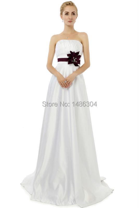 Online buy wholesale black sash white bridesmaid dress for White wedding dress with black sash