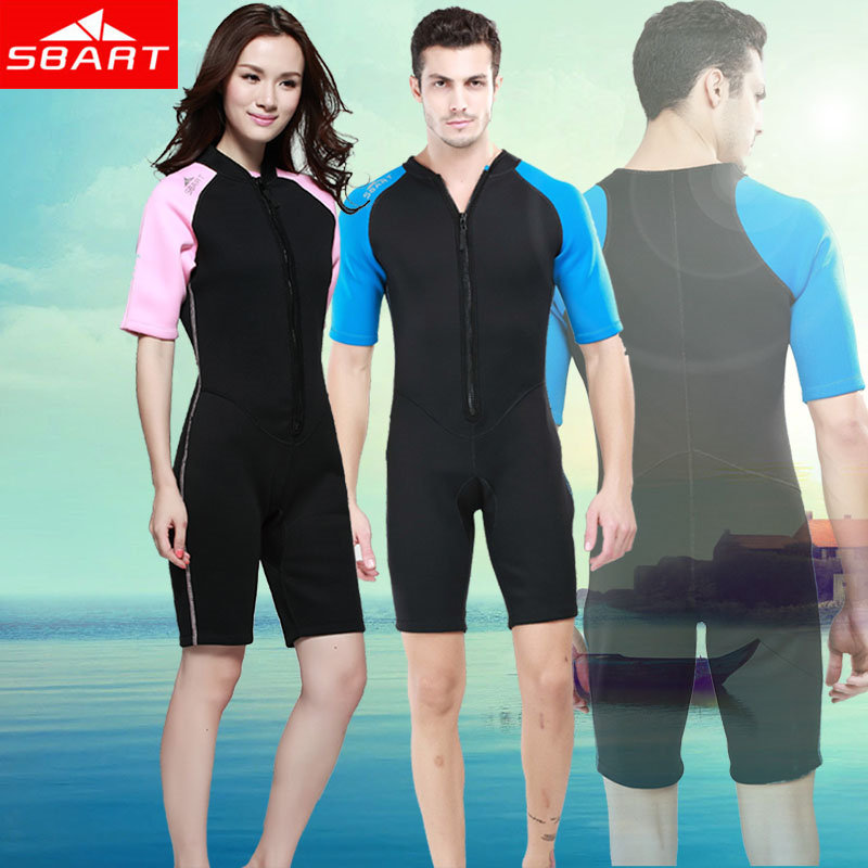 SBART 2MM Neoprene Wetsuit Women Men Swimming Diving Surfing Wetsuits Shorty Upf50+ Snorkel Surf Dive Suit Wet Suits Clothing N(China (Mainland))
