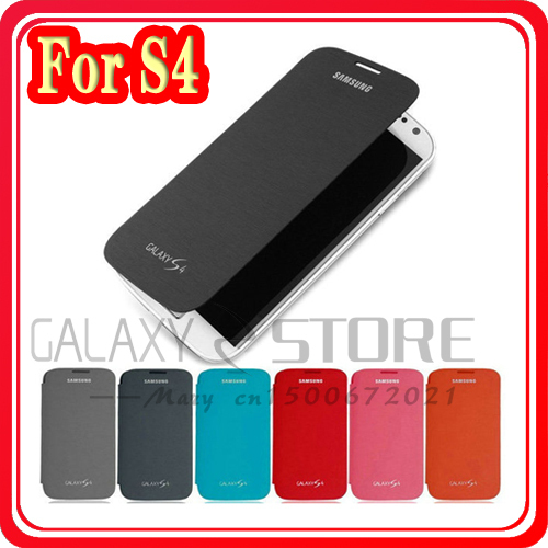 Free shipping Battery Housing Case/leather Flip cover case for Samsung Galaxy S4 SIV I9500 Free Screen Protector leather