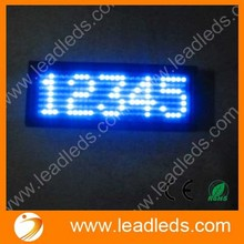 Message Blue LED Programmable Name Badge Mini Scrolling Display Tag 11x44 Dots (10PCS/PACK)(China (Mainland))