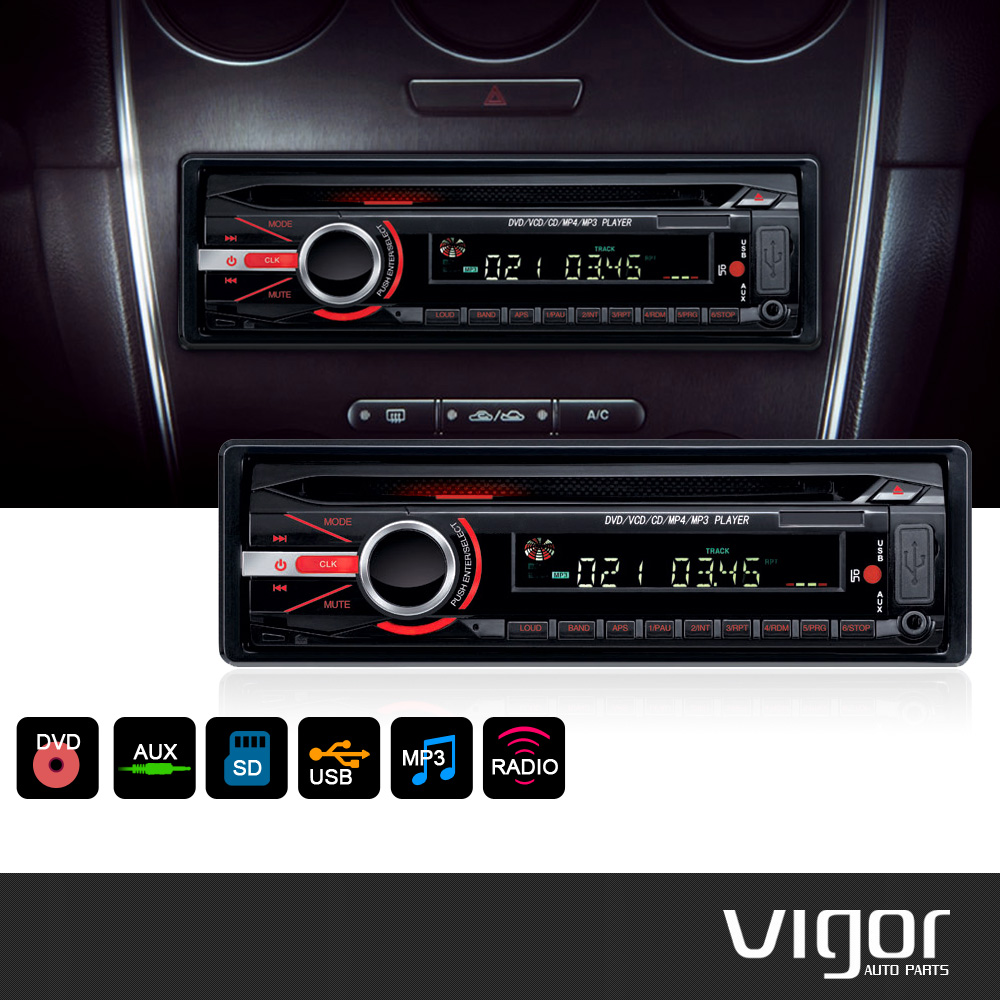 Detachable Front Panel 1 DIN IN DASH Car DVD/VCD/MP3/CD Player FM/AM Tuner Built-In USB Port/SD Card Slot Remote Control(China (Mainland))