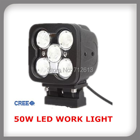 50w 4inch CREE led LED Work Light for military 4WD off road truck marine(China (Mainland))