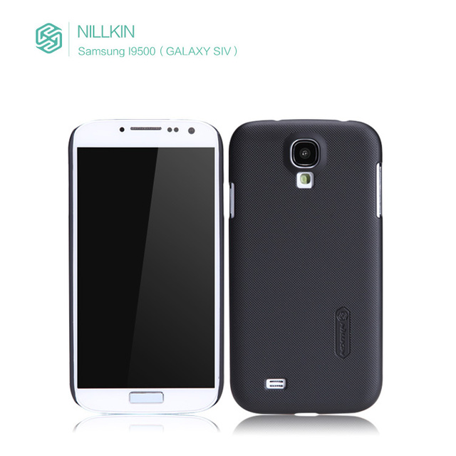 "Genuine Nillkin ,Quality products NILLKIN ""super frosted shield"" hard case For Samsung Galaxy S4 I9500, with screen protector"