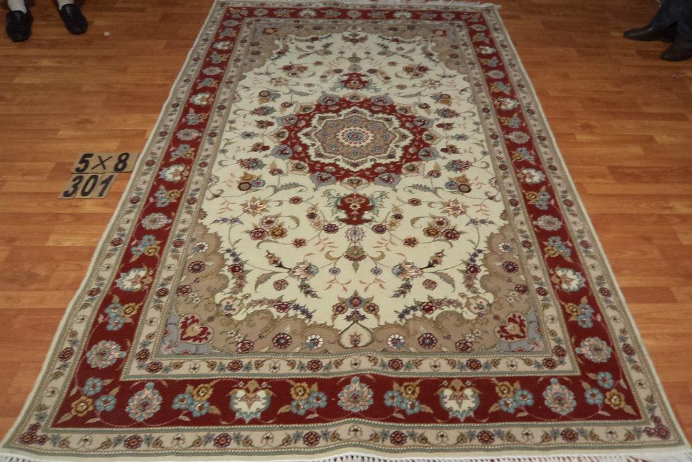 100 Handmade Silk And Wool Garden Carpet And Rugs 5x8