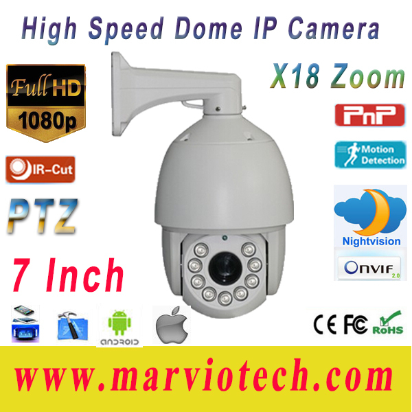 Full HD 18x Zoom Nigt Vision IR IP Camera PTZ, 2MP 1080p CCTV High Speed Dome Security Cameras, Hot Selling!!!(China (Mainland))