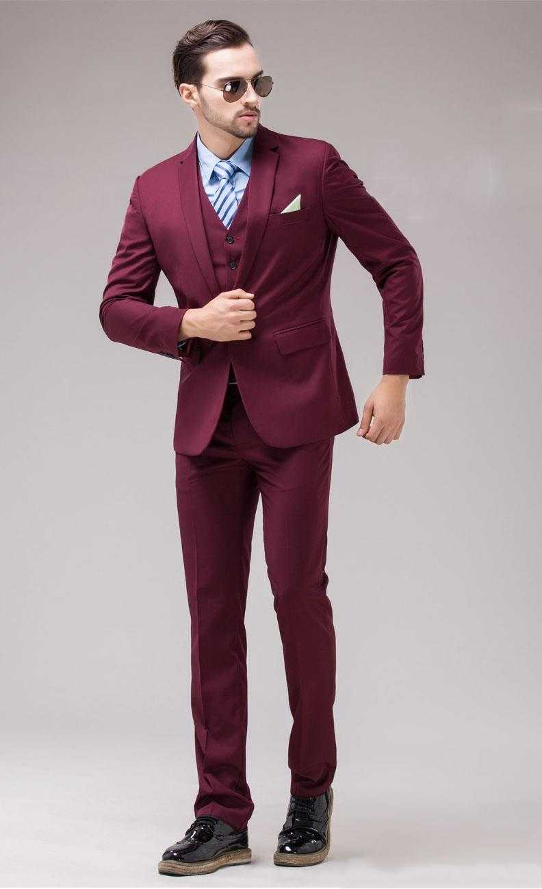 Online Buy Wholesale burgundy suit for prom from China burgundy ...