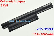 Японский сотовый оригинал качество новый аккумулятор для SONY Vaio E серии EB13 EB15 VGP-BPS22 VGP-BPS22A VGP-BPL22 10.8 В 5000 мАч