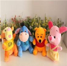 Children baby Stuffed toy bear tiger donkey pink cotton plush toys birthday gift doll 18cm 4pes/lot(China (Mainland))
