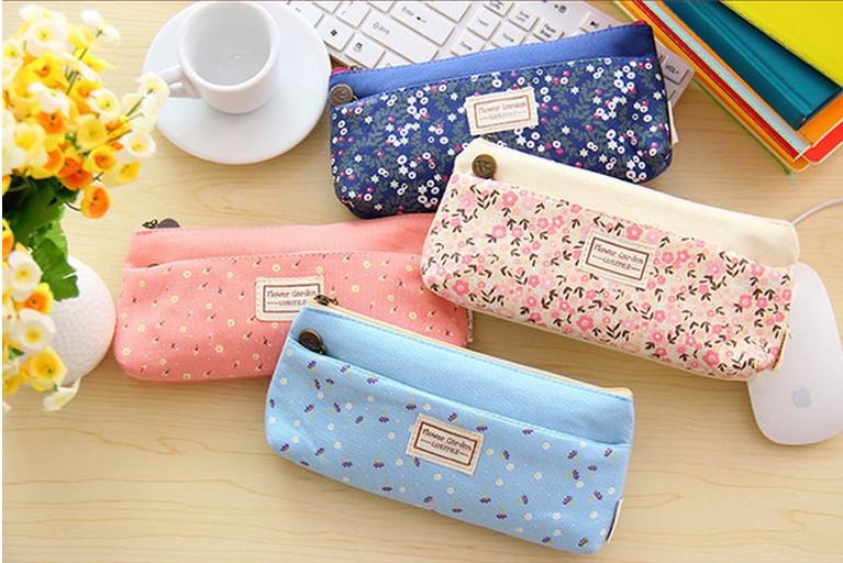 Горячая распродажа сладкий маленький бязь цветочный портмоне двойная молния пенал мобильный телефон ключ сумки VQB47