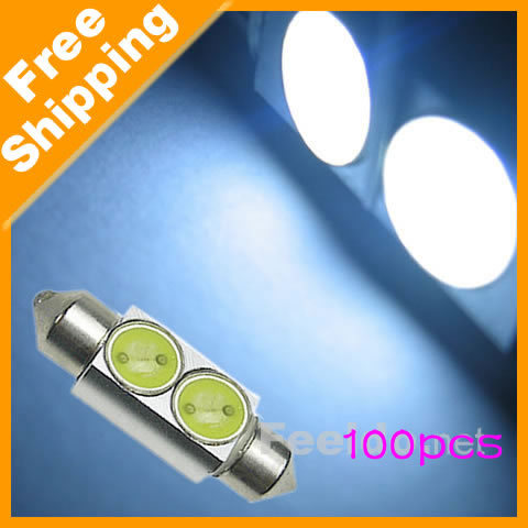 Free shipping 36mm 2SMD lamp 2W White Festoon Interior LED Light Bulb  (#1190)<br><br>Aliexpress