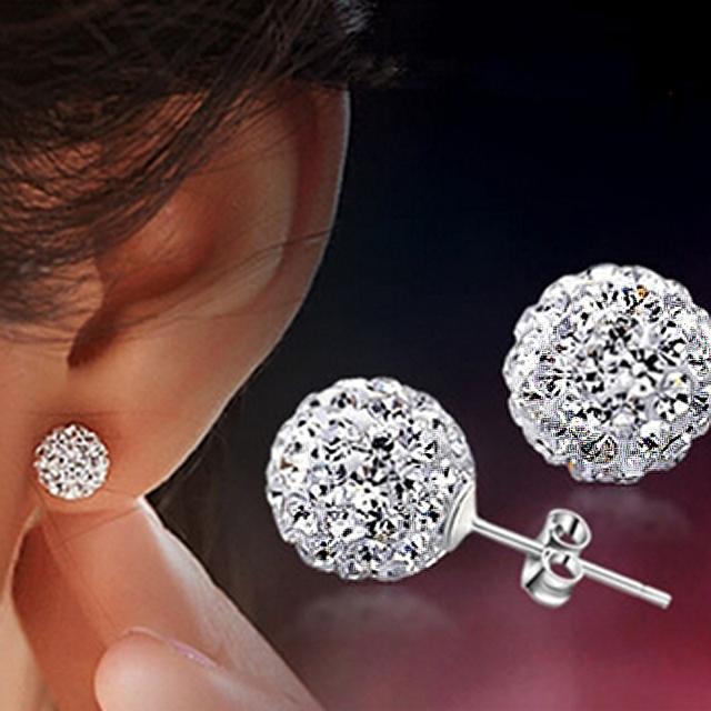 опт ! 2015 корея fine jewelry sterling-silver-jewelry модные стразы сережки серьги ...
