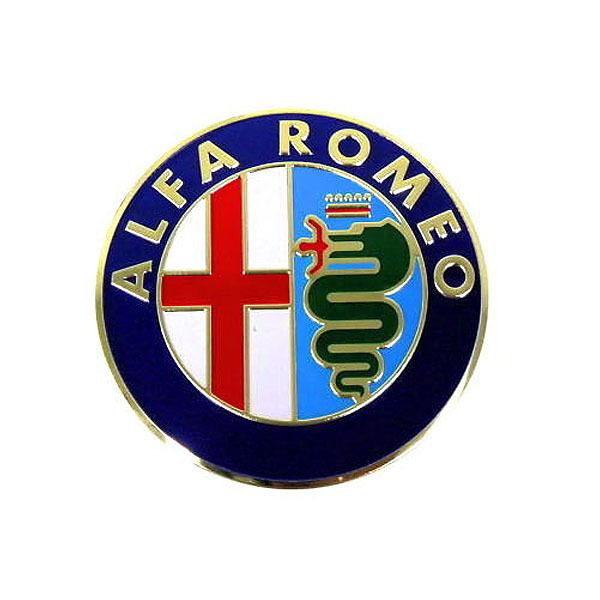 New 56.5mm Badge Sticker Car Logo Emblem for Alfa Alfa Romeo Giulietta Spider Gt Mito 147 156 159 166 Black Accessories(China (Mainland))