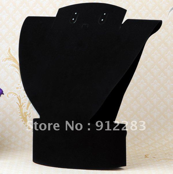 Free Shipping 310*290mm 5pcs Foldable Black Velvet Fabric Necklace Ring Pendant Display Stand Holder,Fashion Jewelry Display