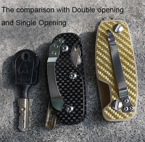 Outdoor Gear Carbon Fiber Patch Housekeeper For Keys Travel Kit EDC Key Clip Camping Portable Key Keeper EDC Key Fodler Purse(China (Mainland))