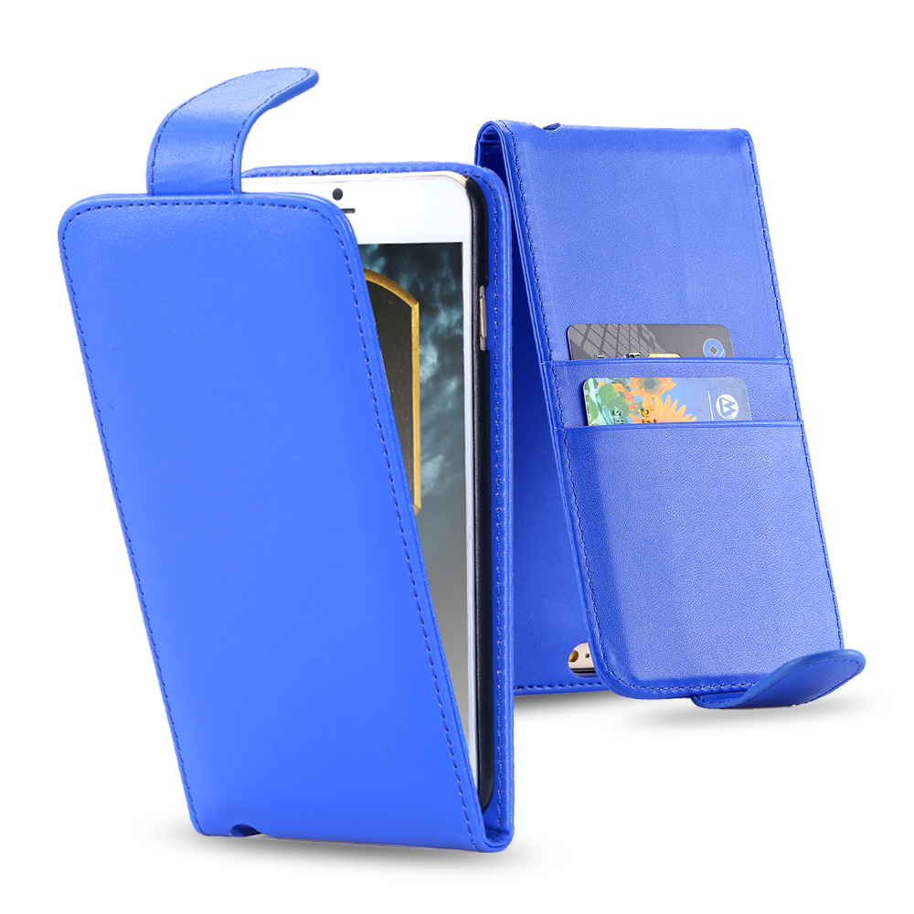 i6/i6 Plus Cell Phone Case Leather Vertical Flip Case For Apple iPhone 6 /6Plus Card Slots Magnetic Strap Cover For i4/4S i5/5S(China (Mainland))