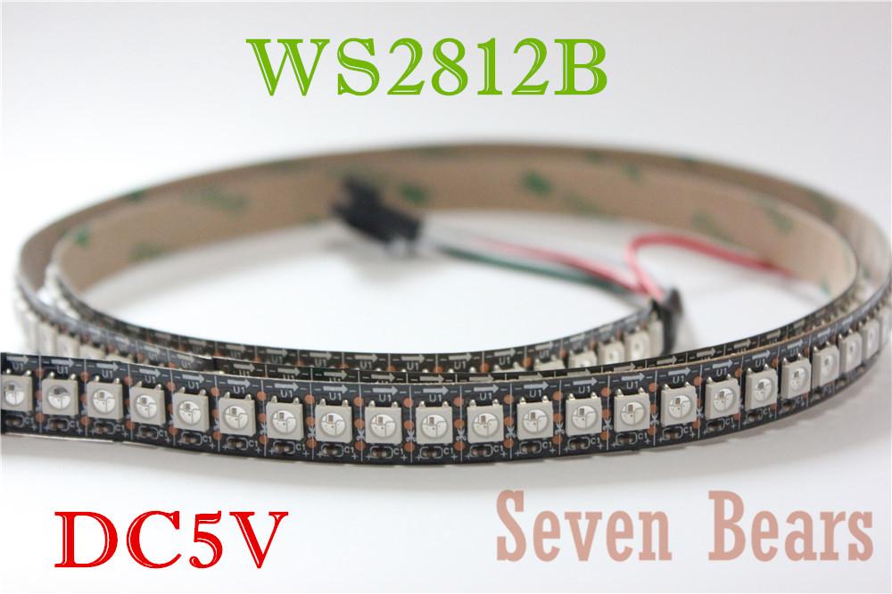 1m 144leds WS2812B 144 LEDs/M 5050 RGB Chip WS2811 IC Digital 5V LED Strip Light non-Waterproof(China (Mainland))