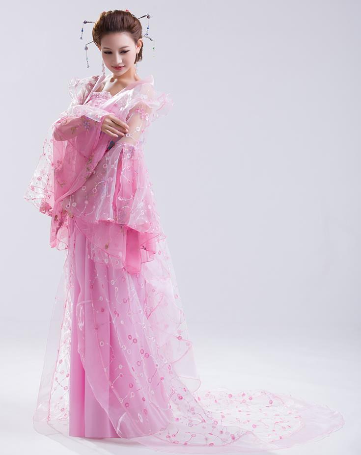 Hanfu Chinese Costume Beyonce  Chinese Folk Dance Costumes Hanbok Women  Ancient Chinese Costume Hanfu  Wear Pink Dress TrailingОдежда и ак�е��уары<br><br><br>Aliexpress