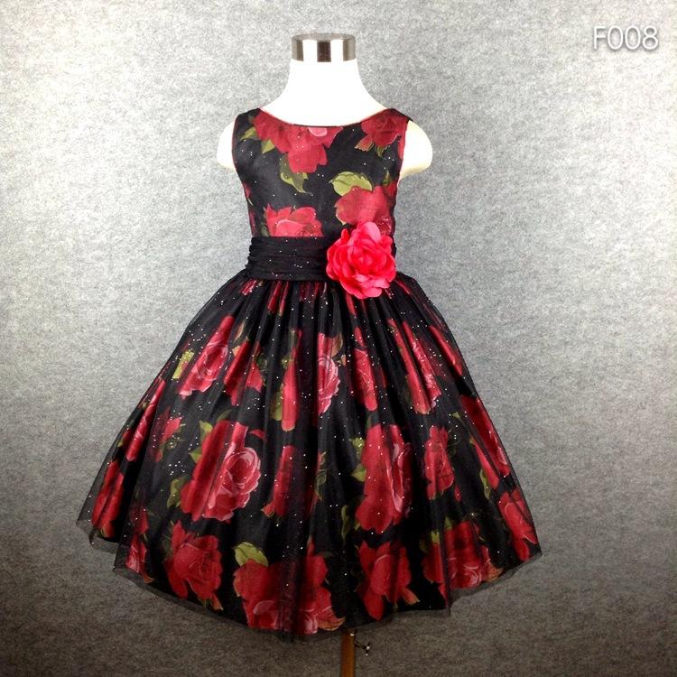 Christmas dresses for graduation party print girl vintage dress high