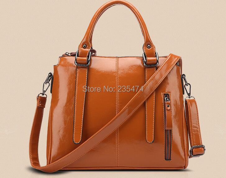 100% cowhide leathe Handbag casual Shoulder Bags Bolsas waxing Crossbody Genuine Leather Tote Bag Women Messenger - suipu lu's store