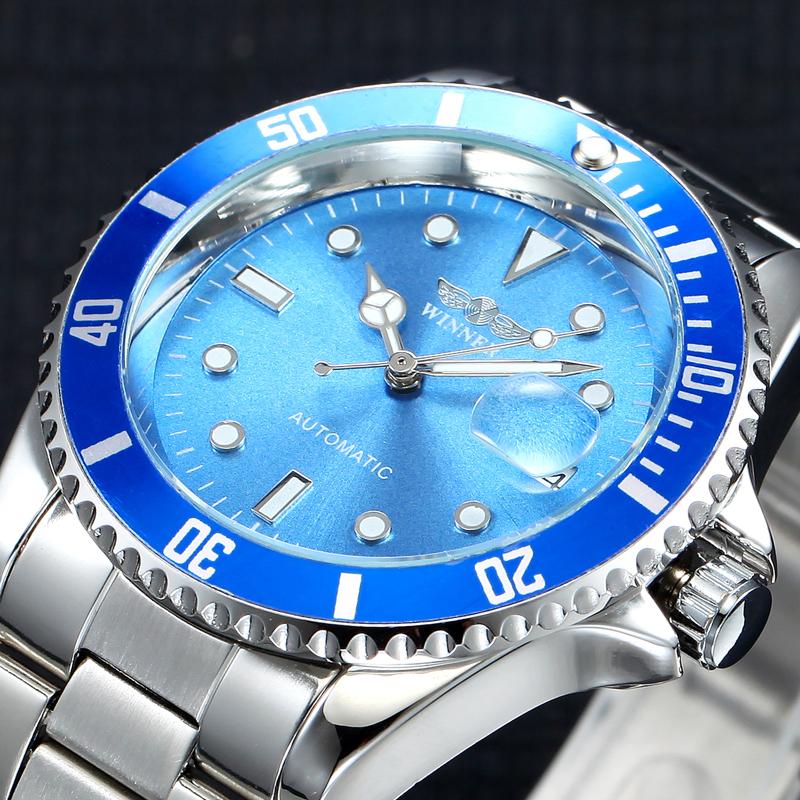 2017 Winner Top Brand Luxury Blue Men Watch Automatic Skeleton Mechanical Wristwatch Male Man Watches Hour relogio masculino(China (Mainland))
