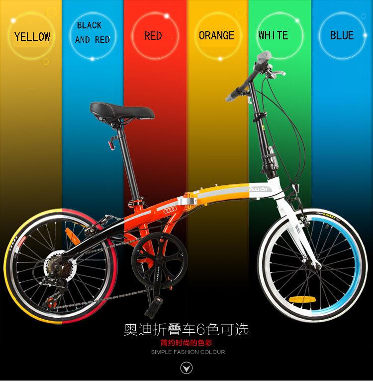 20 inch folding bike folding bicycle V brakes, high-carbon steel frame rode bike(China (Mainland))
