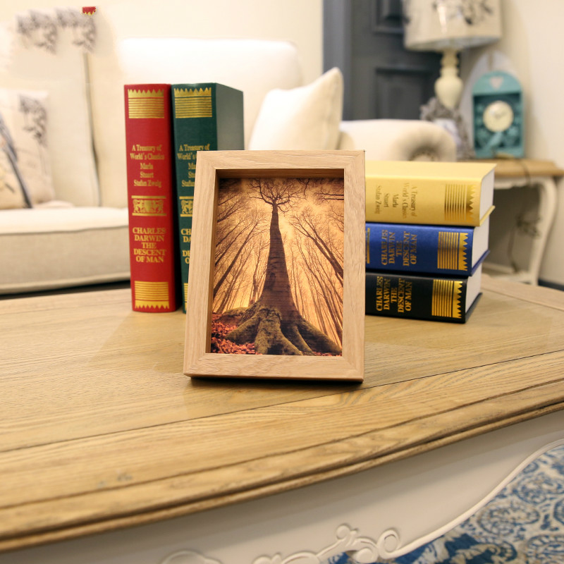 Solid Wood Color Wooden Photo Frame Swing Sets Creative Pastoral Style Seven 7-inch 5 6 8 10 A4 Photo Frame Children Frame Wall(China (Mainland))