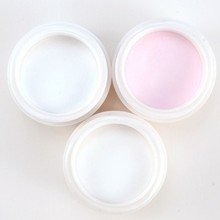 3 pcs/lot Acrylice Powder For Nail Decoration Nail Acrylic Powders Nail Art Decoration Tools Pink/White/Clear  Free Shipping(China (Mainland))