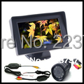 "WIRELESS Camera +4.3 ""LCD Monitor Car Rear View Free Shipping"