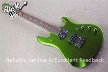 China OEM Musical Instruments Music man John Petrucci Electric Guitars 24 Frets Metallic Green Finish In Stock(China (Mainland))