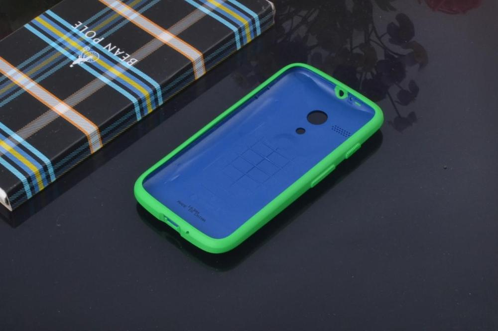 100% original grip shell for Motorola Moto G phone bags protective shell battery housing door back covers cases + 1x screen film