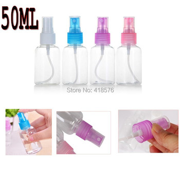10Pcs Portable Travel transparent bottles spray bottle Empty Plastic Atomiser Refillable Perfume 50ml