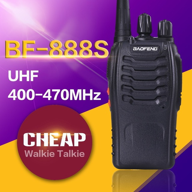 Free shipping hot-selling  cheapest Two-Way Radio BaoFeng BF-888S Walkie Talkie UHF 5W 16CH