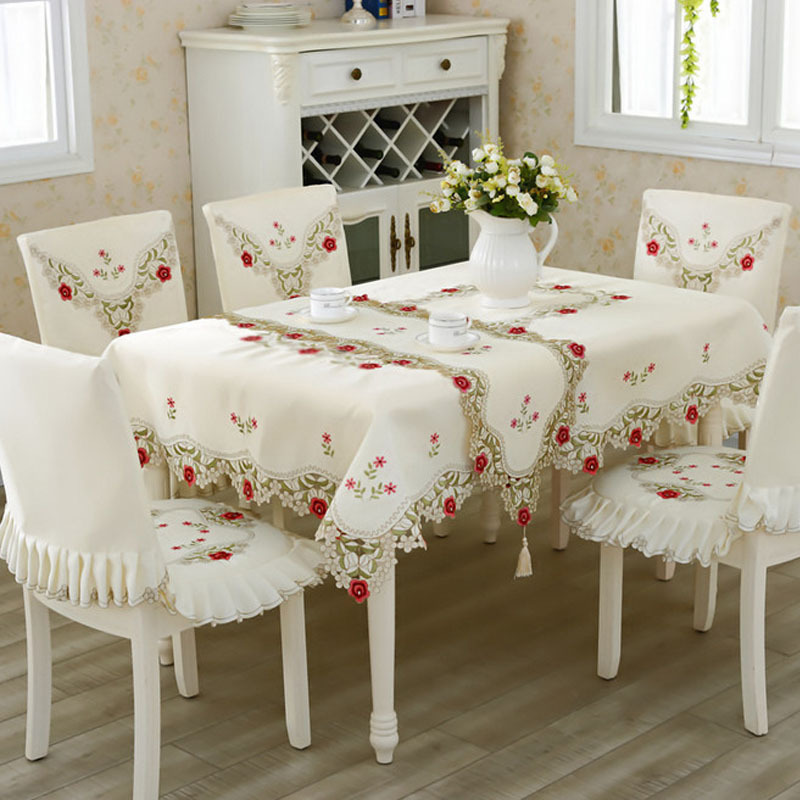 Lace Tablecloth Overlays Rustic Wedding Embroidery Table Cloth Toalha De Mesa Jacquard Spandex