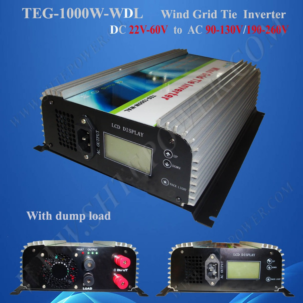 1000 Watt Grid Connect Wind inverter, Dump load resistor DC 22-60v Inverter wind power(China (Mainland))