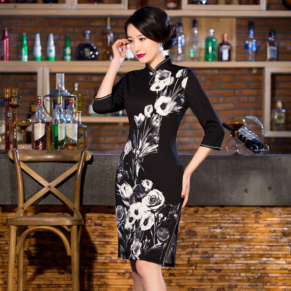 New Arrival Chinese Traditional Womens Cotton Hand-Made Button Cheong-sam Dress S M L XL XXL  QXF20Одежда и ак�е��уары<br><br><br>Aliexpress