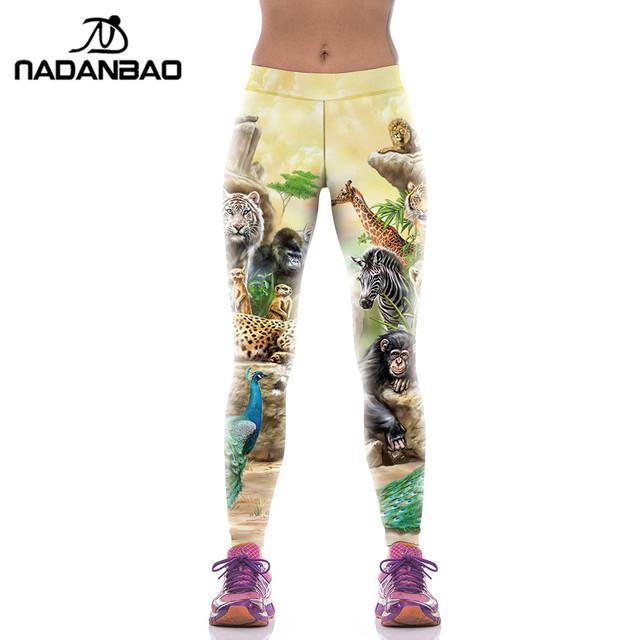 Модные спортивные леггинсы с печатью животных, новое поступление, KYK1071