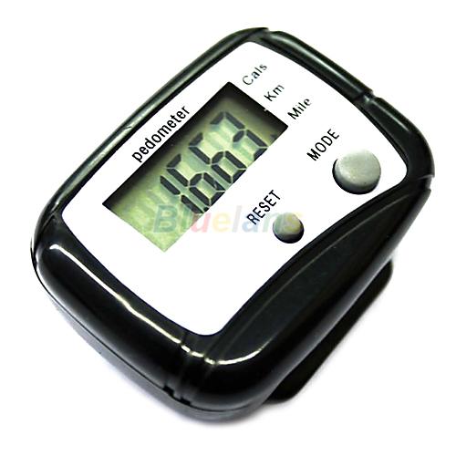 Гаджет  1pc Black LCD Pedometer Step Calorie Counter Walking Distance Sport Pedometer 01LT None Спорт и развлечения