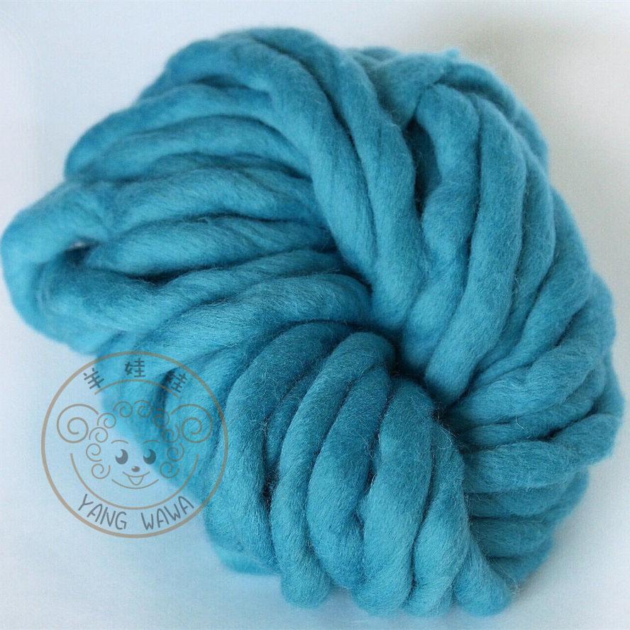 Merino Yarn : , 100% Merino Wool Roving bulky knit yarn, Super Chunky Big Loop Yarn ...