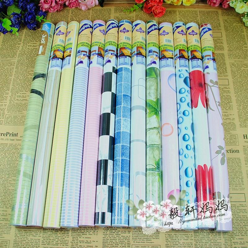 Plastic waterproof packing paper diy handmade paper wallpaper furniture 45*200cm(China (Mainland))