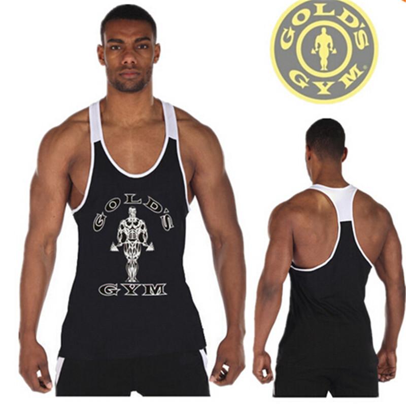 Гаджет  Newest Golds Gym Stringer Tank Tops Mens Y Back Deep Cut Bodybuilding and Fitness Singlet Sport Muscle Sleeveless Shirt None Одежда и аксессуары
