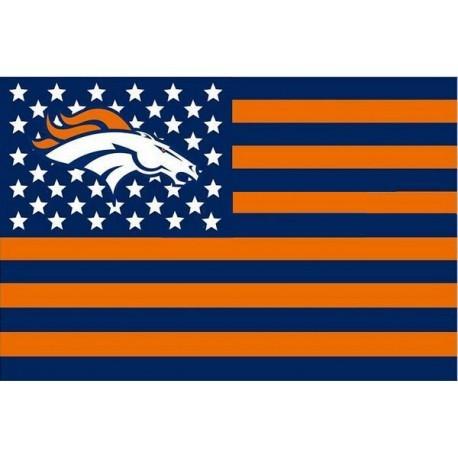 Denver Broncos USA stripe star Premium tim sepak bola