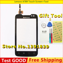 New Original For Lenovo A789 Touch Screen with digitizer Replacement Parts External screen Touch Panel + Tool Free shipping(China (Mainland))