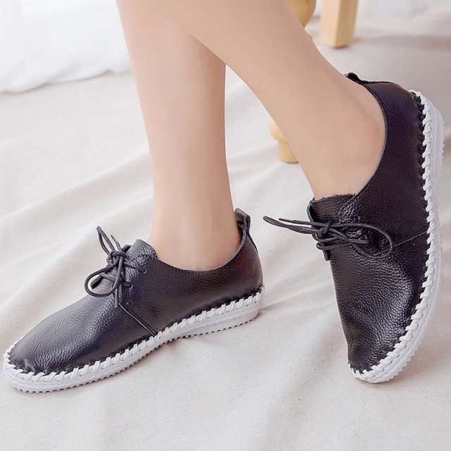 2015 New designer women soft genuine leather flat loafer shoes women confortable casual shoes wholesale WD-198Y15(China (Mainland))