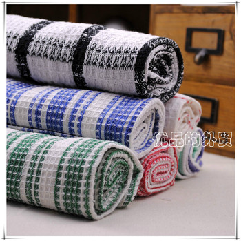 free shipping Cotton plaid 100% multi-purpose towel tea towel gremial table napkin placemat pillow covers hand towel