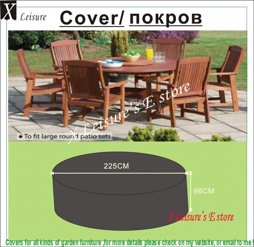 Round Wooden Chair And Table Set Cover Garden Furniture Cover Water Proofed Cover For Outdoor