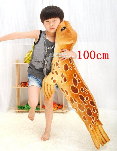 Free Shipping 104cm Big Size Simulation Coffee Seal Super Soft Creative Plush Toy  Cushion Pillow Car  Home Decor Children Gift