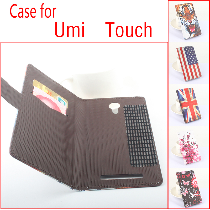For Umi Newest Colored Darwing 2 Leather Flip Standby Cover For Umi Touch Left &Right PhoneCases FreeShipping(China (Mainland))