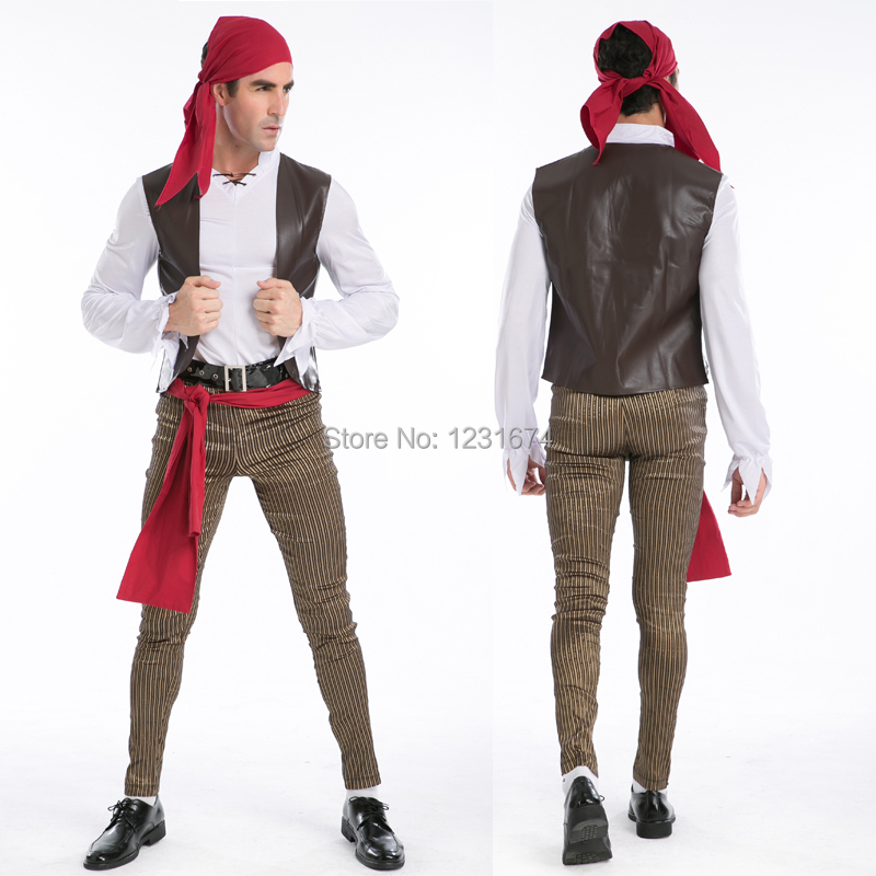 Rogue Pirate Halloween Costume 3 Sizes Rogue Pirate Costume