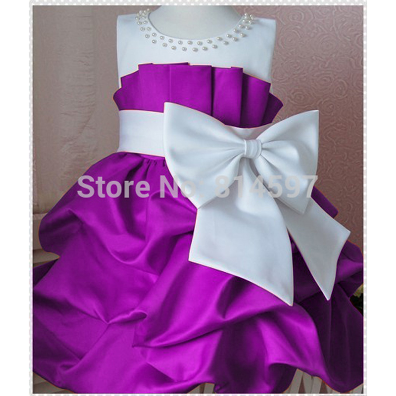 2016 Flower Girl Dresses Wedding Girls Princess Dress Kids Summer Party Bow Vestido Da Minnie Roupa - Yiwu Rex Guo's store