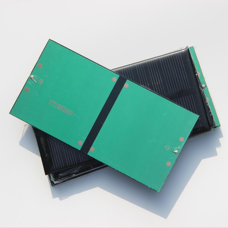 Hot Sale 10PCS/Lot 1W 6V Mini Solar Cell DIY Solar Toys Monocrystalline Solar Panel Education Kits 125*63*3MM Free Shipping(China (Mainland))